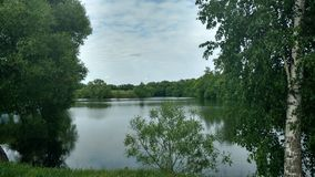Lake in a Park in the Russian country estate. Lake in an old Russian manor Stock Photos