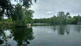 Lake in a Park in the Russian country estate. Lake in an old Russian manor Stock Photo