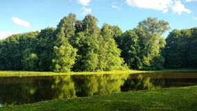 Lake in a Park in the Russian country estate. Lake in a Park in an old Russian manor Stock Images