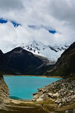 Lake Paron, Huascaran nationalpark, Caraz, Peru Arkivfoto