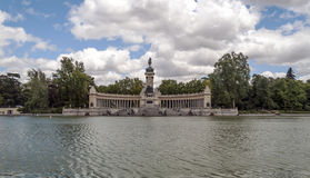 Lake Parque del retiro in madrid Stock Photo