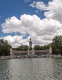 Lake Parque del retiro in madrid Royalty Free Stock Photos