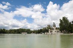 Lake of Parque del Retiro. View of the lake of Parque del Retiro in Madrid, Spain Stock Photos