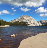 The lake at  Pass in Yosemite Park Stock Image