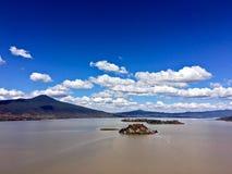 Lake Patzcuaro. View from above of Lake Patzcuaro in Michoacan State, Mexico Stock Photos