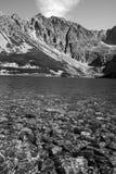 Lake and peak in the Tatras mountains Stock Photos