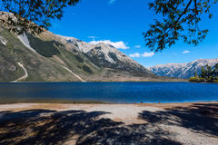 Lake Pearson / Moana Rua Wildlife Refuge located in Craigieburn Forest Park in Canterbury region, South Island of New Zealand Stock Images