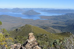 Lake Pedder. View over Lake Pedder from high camp hill Stock Photography