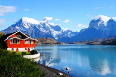 Lake Pehoe, Torres Del Paine National Park, Patagonia, Chile Stock Image
