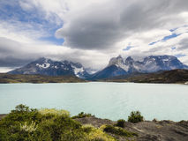Lake Pehoe, Torres Del Paine National Park, Patagonia Stock Photo