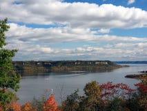 Lake Pepin in Minnesota. Lake Pepin view from Frontenac state park at fall season Stock Photos