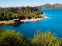 Lake Perito Moreno. Beach at Lake Perito Moreno east - Colonia Switzerland - Bariloche - Argentina Stock Photos