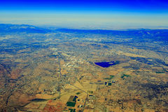 Lake Perris State Recreation Area at Edgemont from top Stock Images