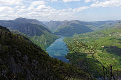 Lake Perucac, viewpoint Banjska Stena, mountain Tara, Western Serbia Stock Photography