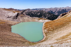 Lake Petit Cayolle royalty free stock photo