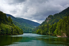Lake Petrimanu in Romania Stock Photo