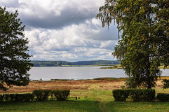Lake Petrovskoye (Kuchane) in Pushkinskiye Gory Stock Image