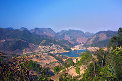 Lake. On the Pha Din Pass, go to TuanGiao - Dien Bien Phu - Viet Nam Royalty Free Stock Image