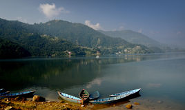 Lake Phewa Royalty Free Stock Images