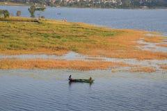 Lake Phewa, Pokhara, Nepal royalty free stock photography