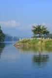 Lake Phewa, Pokhara, Nepal Stock Image