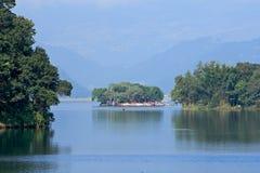 Lake Phewa, Pokhara, Nepal stock photography