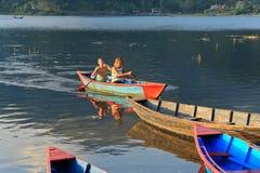 Lake Phewa, Pokhara, Nepal royalty free stock photo