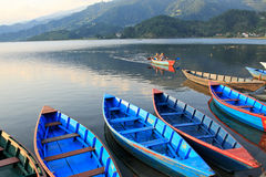 Lake Phewa, Pokhara, Nepal Royalty Free Stock Photos