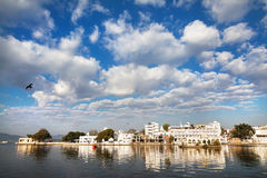 Lake Pichola and City Palace in India Royalty Free Stock Images