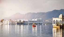 Lake Pichola hotel palace Stock Images