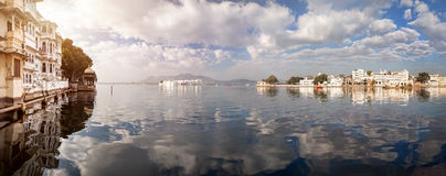 Lake Pichola Panorama in India Stock Image