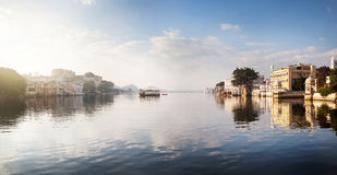 Lake Pichola Panorama in India Royalty Free Stock Images