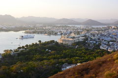 Lake Pichola and Udaipur sunset view. Rajasthan. India Royalty Free Stock Photography