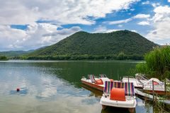 Lake Piediluco, Italy royalty free stock photo