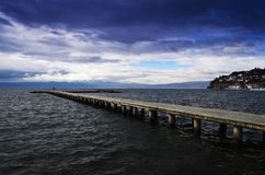 Lake pier Royalty Free Stock Images