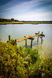 Lake and Pier Stock Image