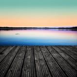 Lake pier Royalty Free Stock Photos