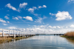 Lake with pier Stock Image