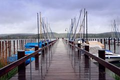 lake pier swiss Στοκ εικόνα με δικαίωμα ελεύθερης χρήσης