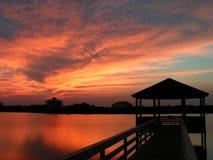 Lake pier stock photography
