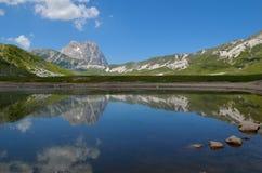 The lake of Pietranzoni Royalty Free Stock Photography