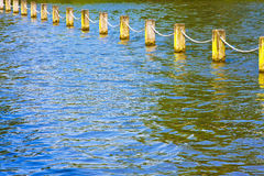 Lake pillars Stock Image
