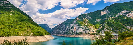 Lake Piva (Pivsko jezero) stock images