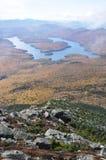 Lake Placid in daling royalty-vrije stock afbeelding