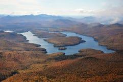 Lake Placid dans l'automne Photo libre de droits