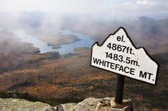 Lake Placid en Berg Whiteface royalty-vrije stock foto