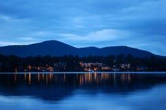 Lake Placid en la noche Fotografía de archivo