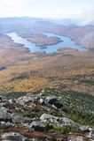 Lake Placid in fall. Lake Placid view from top of Whiteface Mountain in fall, Adirondack Mountain, New York State, USA Royalty Free Stock Image