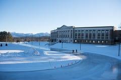 Lake Placid-Highschool und das olympische Oval Lizenzfreie Stockbilder