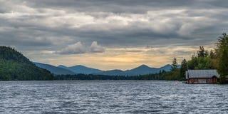 Lake Placid the landmark of New York state Stock Photo